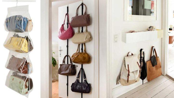 ideas para organizar los bolsos hogar ordenado