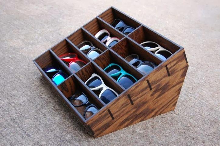 oculos de sol organizado